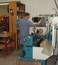 CNC Lathe being used by a skiled person